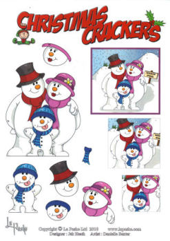 The Frost Family SBS Decoupage Sheet