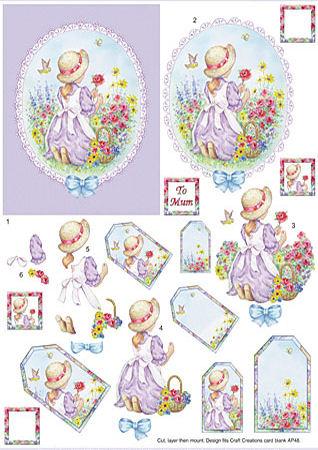 Victorian Scene Lilac SBS Decoupage Sheet