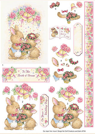 Wedding Bunnies SBS Decoupage Sheet
