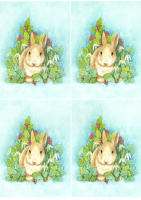 Winter Rabbit Classic Decoupage Sheet
