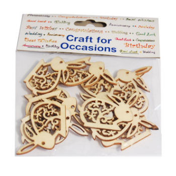 Wooden Filigree Rabbits