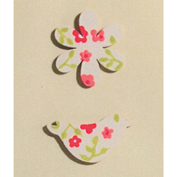 Wooden Flowers, Butterflies & Bird Embellishments