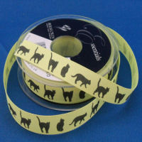 Cats Printed Ribbon