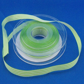 Green Pencil Stripe Ribbon