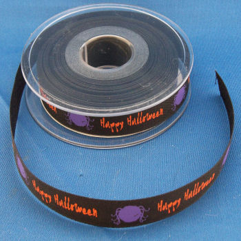 Happy Halloween Printed Ribbon
