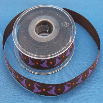 Witches Hats Printed Ribbon