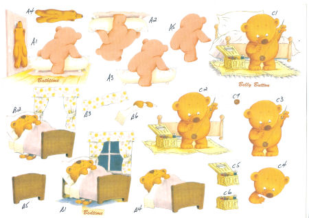 Baby Bear SBS Decoupage Sheet