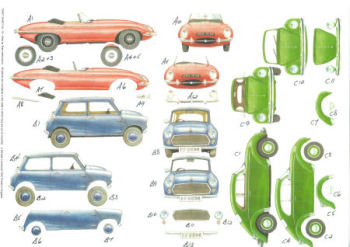 Classic Car SBS Decoupage Sheet