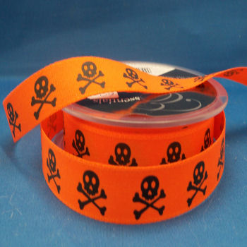 Skull Printed Ribbon