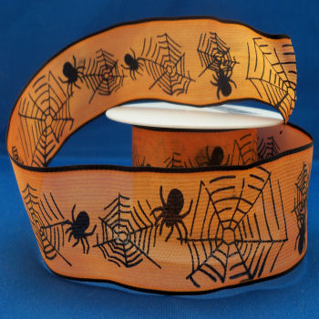 Spider Web Printed Ribbon