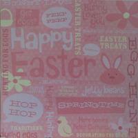 Karen Foster Bunny Collage Scrapbooking Paper