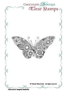 Tangled Butterfly Clear Stamp