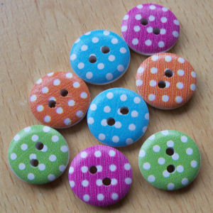 Spotty Buttons Pack of 8
