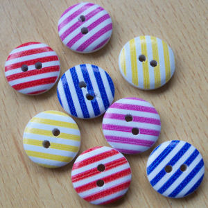 Striped Buttons Pack of 8