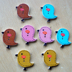 Wooden Bird Buttons