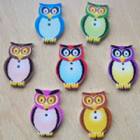 Wooden Owl Buttons