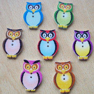 Wooden Owl Buttons