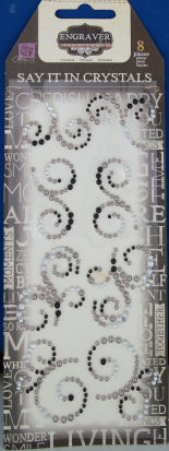 Say It In Crystals Mini Swirls - Engraver