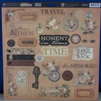 Time Traveller Chipboard Pieces