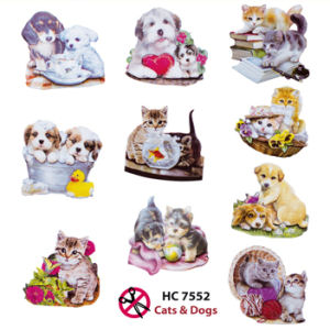 Cats & Dogs Easy 3D Designs