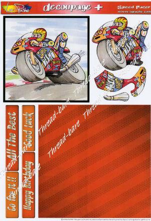 Speed Racer Decoupage Plus Sheet