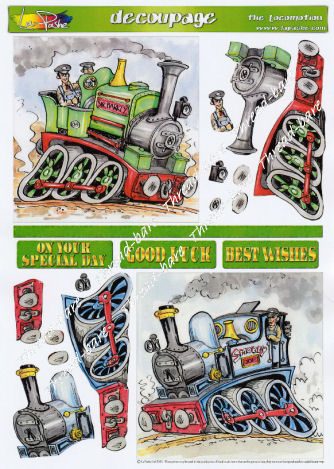 The Locomotion Double Decoupage Sheet