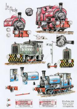 Trains Decoupage Sheet