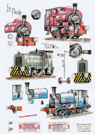 Trains Decoupage Sheet