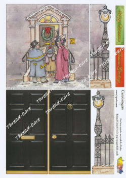 Carol Singers Pop Up Decoupage Sheet