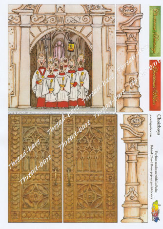Choirboys Pop Up Decoupage Sheet