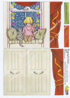 Waiting for Santa Girl Pop Up Decoupage Sheet