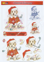 Party Pup Decoupage Sheet
