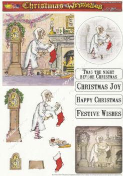The Night Before Christmas Decoupage Sheet