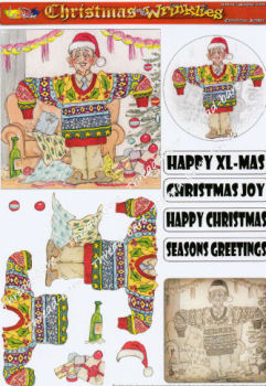 Christmas Jumper Decoupage Sheet