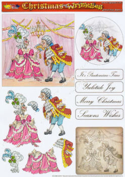 Christmas Panto Decoupage Sheet