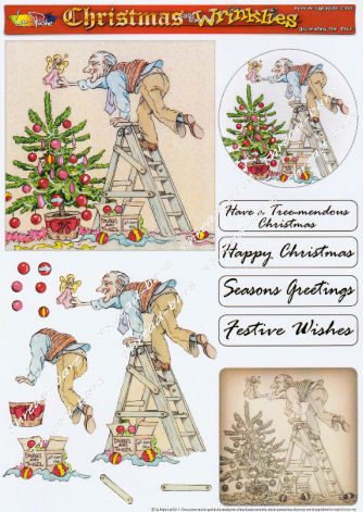 Decorating the Tree Decoupage Sheet