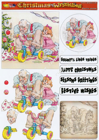 Playtime Grandad Decoupage Sheet