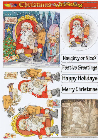 Santa's Grotto Decoupage Sheet