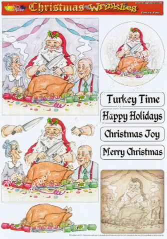 Turkey Time Decoupage Sheet