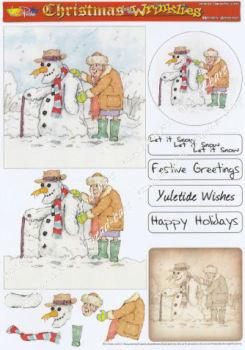 Wrinkly Snowman Decoupage Sheet