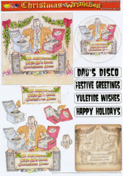 Christmas Disco Decoupage Sheet