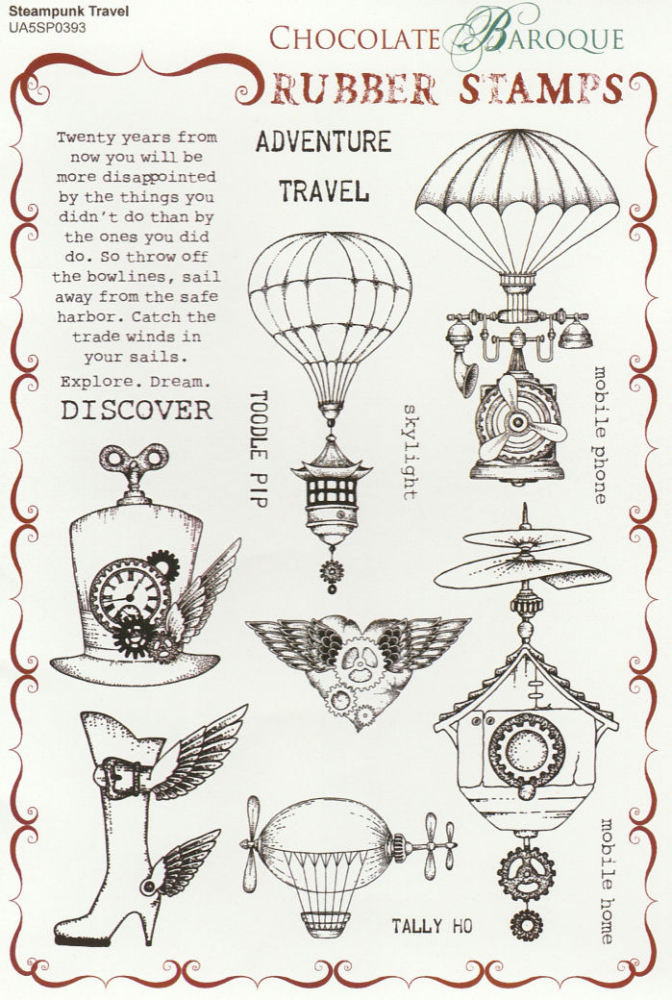 Steampunk Travel Stamp Set