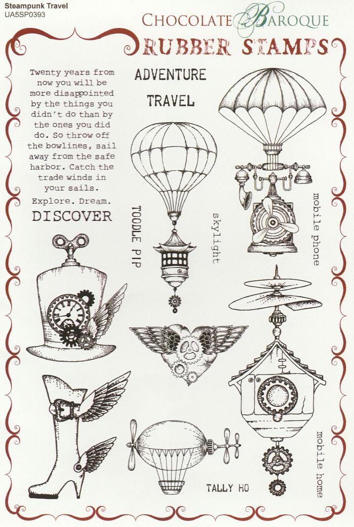 Steampunk Travel Stamp Set