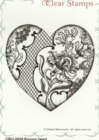 Rococo Heart Clear Stamp