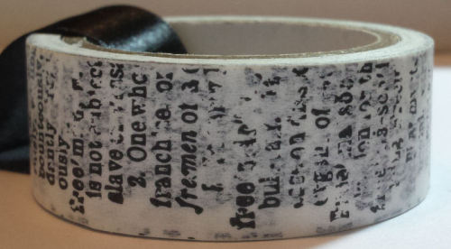 Washi Tape - Dictionary
