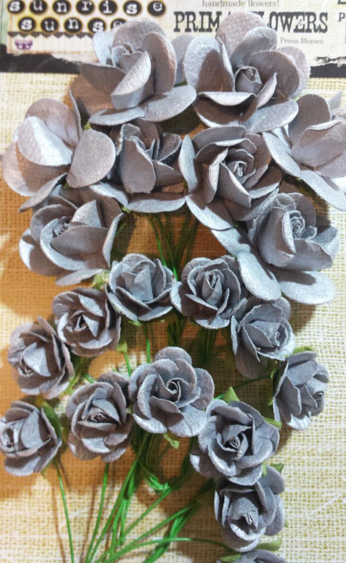 Sunise Sunset Paper Mini Roses - Blue