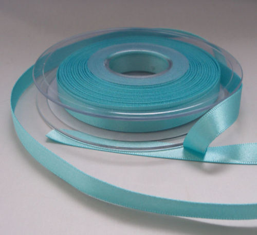 Aqua Double Faced Satin Ribbon