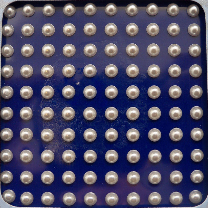 Bling Flat Backed Pearls White