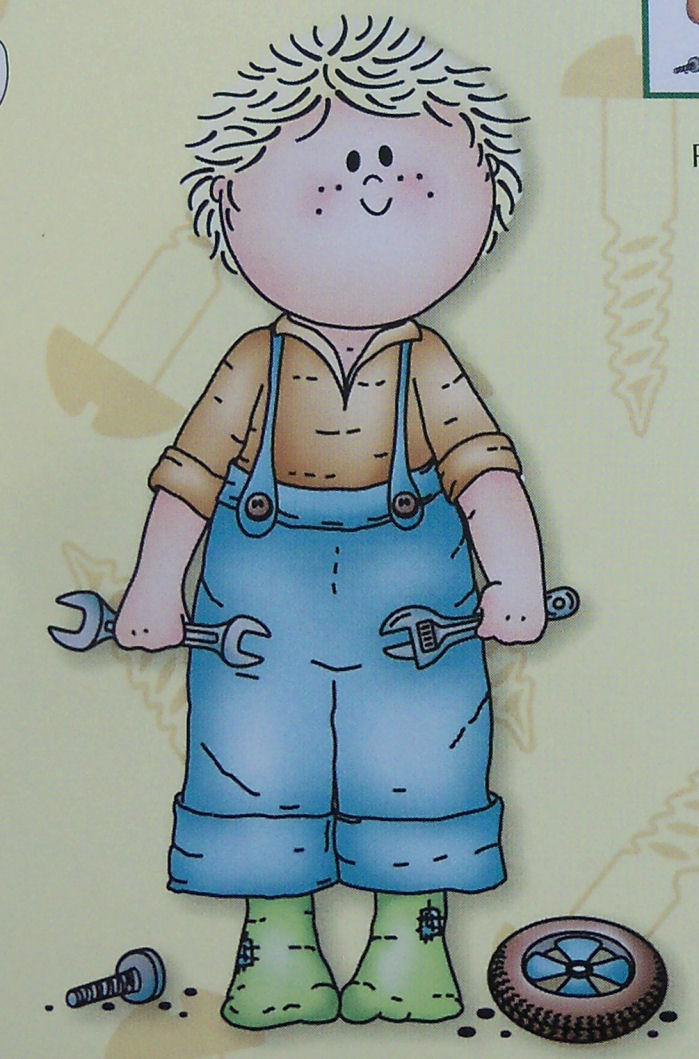 Bambinie Boy at Work Clear Stamp