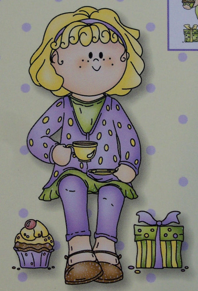 Bambinie Party Girl Clear Stamp